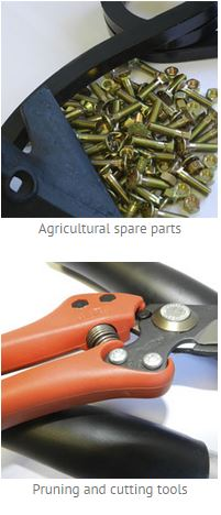 Prunning tools, and agricultural spare parts